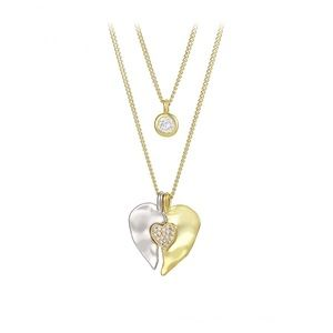 Jewelry - 14k gold plated diamond heart necklace